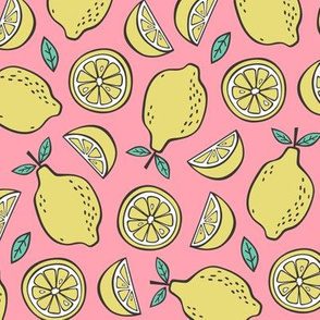 Lemon Citrus on Pink