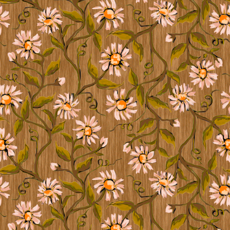 Daisy Vines 1 fabric by eclectic_house on Spoonflower - custom fabric