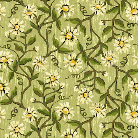 Daisy Vines 2 fabric by eclectic_house on Spoonflower - custom fabric
