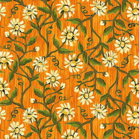 Daisy Vines 3 fabric by eclectic_house on Spoonflower - custom fabric