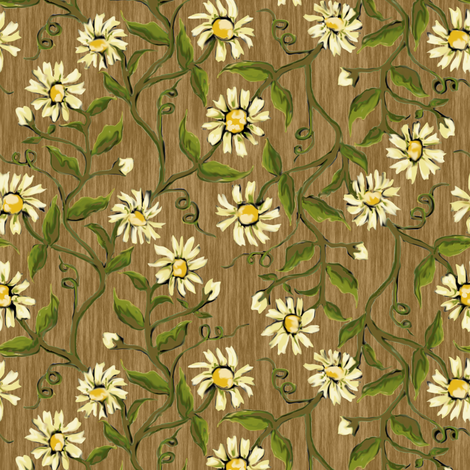 Daisy Vines 4 fabric by eclectic_house on Spoonflower - custom fabric