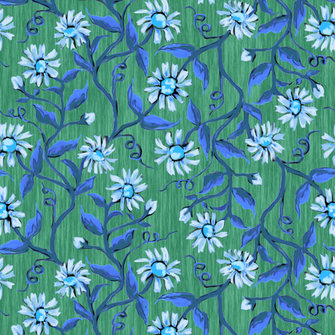 Daisy Vines 5 fabric by eclectic_house on Spoonflower - custom fabric