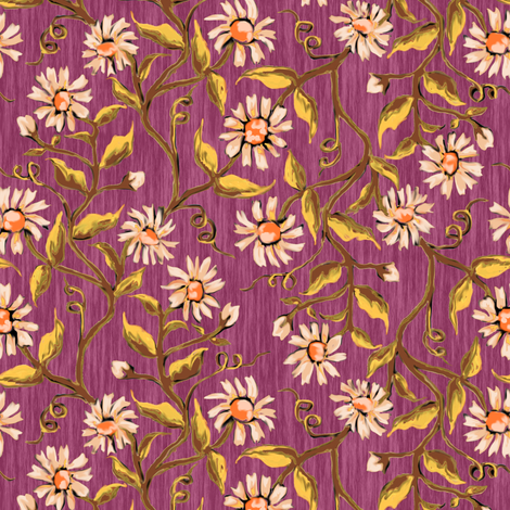 Daisy Vines 6 fabric by eclectic_house on Spoonflower - custom fabric