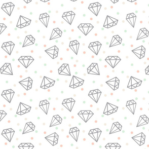 limited palette wedding diamond confetti