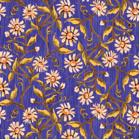 Daisy Vines 7 fabric by eclectic_house on Spoonflower - custom fabric