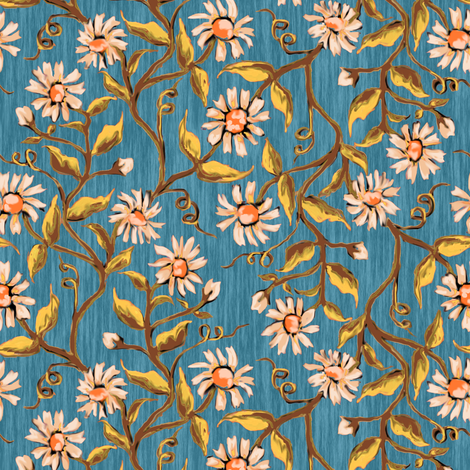 Daisy Vines 8 fabric by eclectic_house on Spoonflower - custom fabric