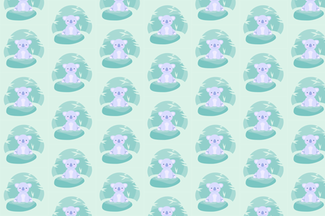 koala fabric by kewee on Spoonflower - custom fabric