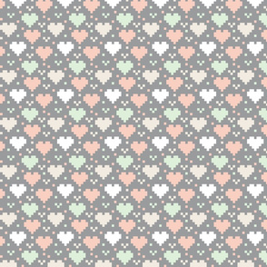 Wedding Pixel Hearts