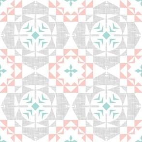 Textured Tiles (Rose Quartz)