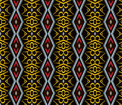 Regal Red and Gold Diamond Pattern fabric by yasmeenah on Spoonflower - custom fabric