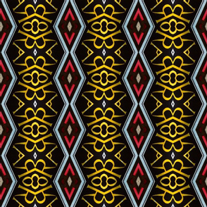 Regal Red and Gold Diamond Pattern