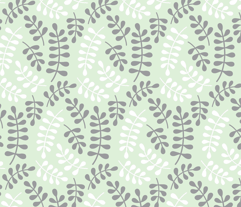cucumber fern // briar wooods fabric by buckwoodsdesignco on Spoonflower - custom fabric