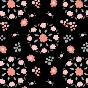 Flowers in black