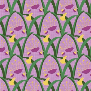 Abstract Easter Lily Floral on Lilac_Miss Chiff Designs