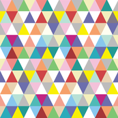 Rainbow Triangles - mini size