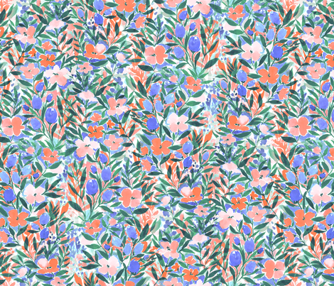 Nonchalant Coral fabric by mjmstudio on Spoonflower - custom fabric