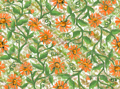 Daisy Vine with Leaves 4