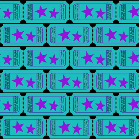 Carnival Ticket | Binary I Love You |  Teal fabric by bohobear on Spoonflower - custom fabric