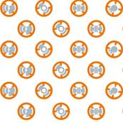 Orange Robot Polka Dot