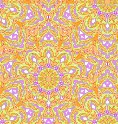 Mandala pattern squared