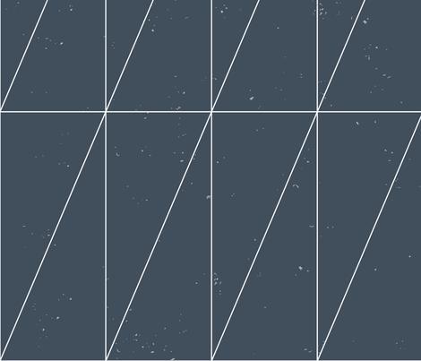 Navy Blue Geo Triangles by Friztin. fabric by friztin on Spoonflower - custom fabric