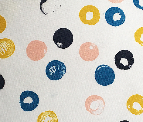 Heckler* (Sailboat) || circles spots dots stamped rubber cork abstract organic geometric scatter
