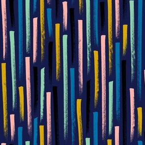 Prat Fall* (Jackie Blue) || stripes magic marker speed gravity confetti doodle abstract