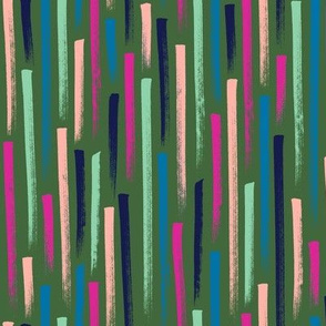 Prat Fall* (Green Disaster) || stripes magic marker speed gravity confetti doodle abstract