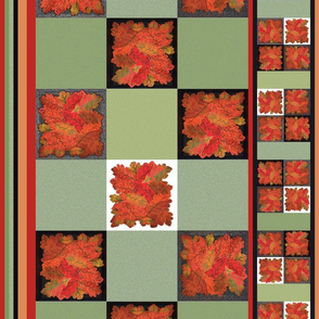 Handmade_Autumn_Oak_Leaves_Cheater_Cloth