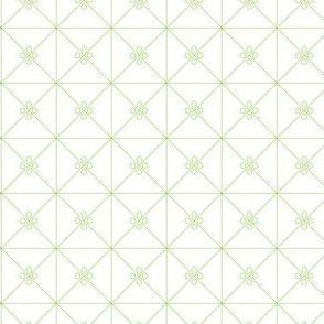 Green Trellis on White_Miss Chiff Designs