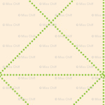 Green Trellis on Cream_Miss Chiff Designs