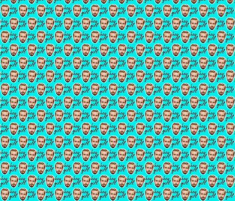 Hey Girl fabric by skippyfantastic on Spoonflower - custom fabric