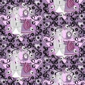 Devin A Bunny Gentleman Laura The Quintessential Bunny, Birds & Flowers  Victorian Fabric #1