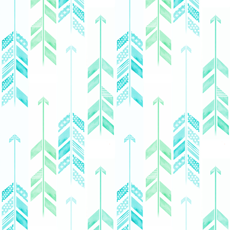Arrow Herringbone Blue Mini fabric by emilysanford on Spoonflower - custom fabric