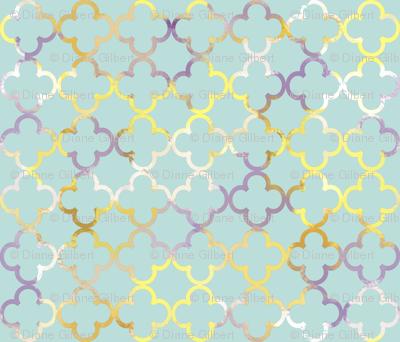 multi teal lattice