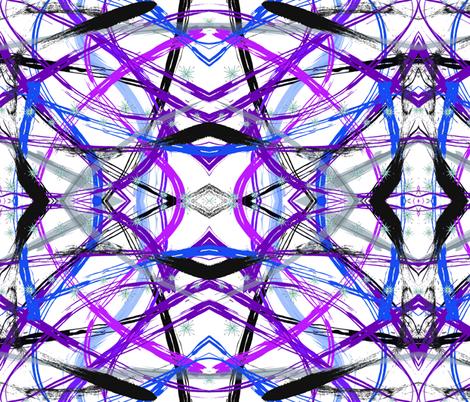 Heart of Calm- Turmoil in Amethyst fabric by cloudsplitterbags on Spoonflower - custom fabric
