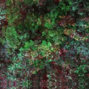 Abstract Summer Garden-Dark Green