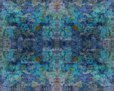 Abstract Summer Garden-Blue