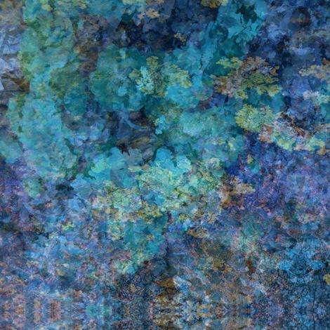 Abstract Summer Garden-Blue fabric by yelena_huntington on Spoonflower - custom fabric