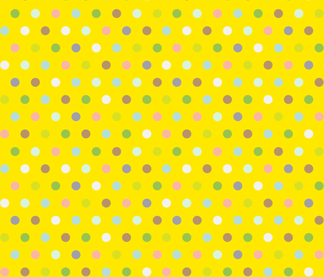 Spots on Yellow fabric by pinky_wittingslow on Spoonflower - custom fabric