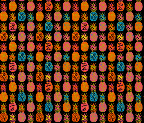 Pineapple Delight fabric by mariafaithgarcia on Spoonflower - custom fabric