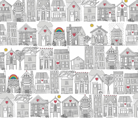 pencil weather love fabric by scrummy on Spoonflower - custom fabric