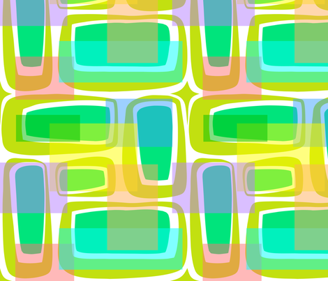 Mod Century Pastel fabric by madtropic on Spoonflower - custom fabric
