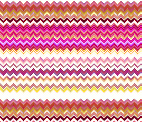 STRAWBERRY CHANTILLY AND BISCUIT ZIGZAG CHEVRON ZIGZAG fabric by paysmage on Spoonflower - custom fabric