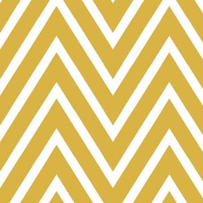 Large Gold Geometric Chevron