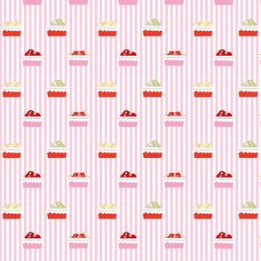 market basket fruits stripes