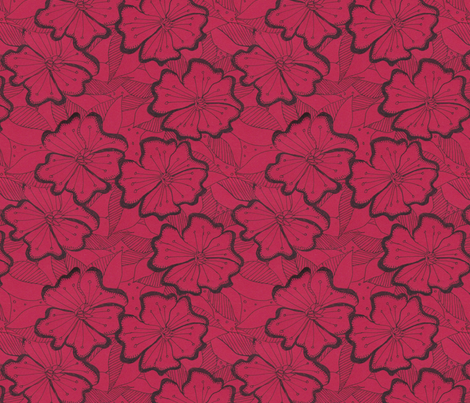 red floral fabric by frutejuce on Spoonflower - custom fabric