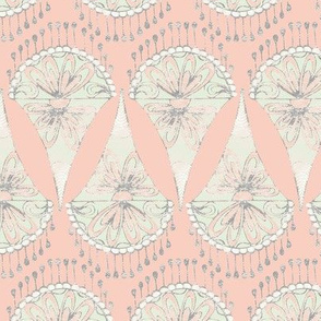Limited Color Palette - Lace Motif (Peach)