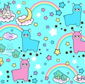 Rspoonflower_blue_no_clouds_and_alpaca_shop_thumb