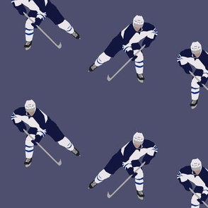 Dark Blue Hockey
